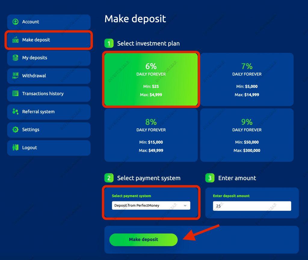 Deposit Action