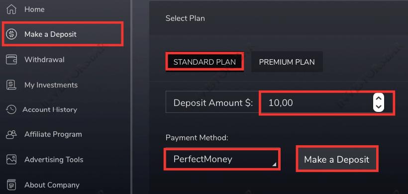 Make deposit