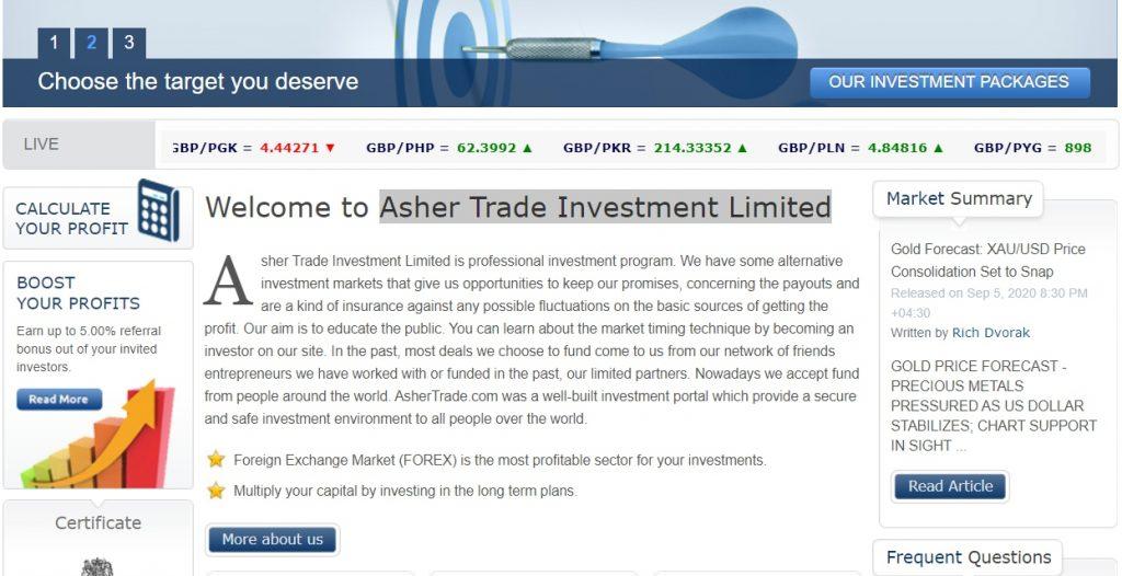 Main Page Ashertrade.com