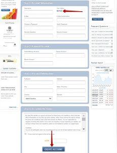 Formulaire d'inscription Ashertrade.com