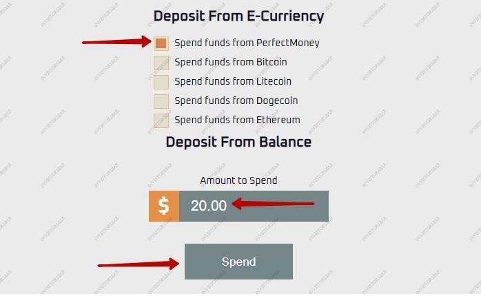 Ajouter des fonds dans Icar.digital