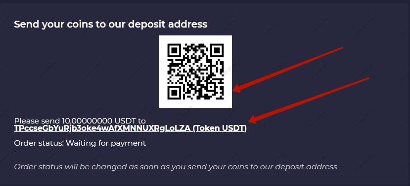 Code QR de dépôt Zetbull.com