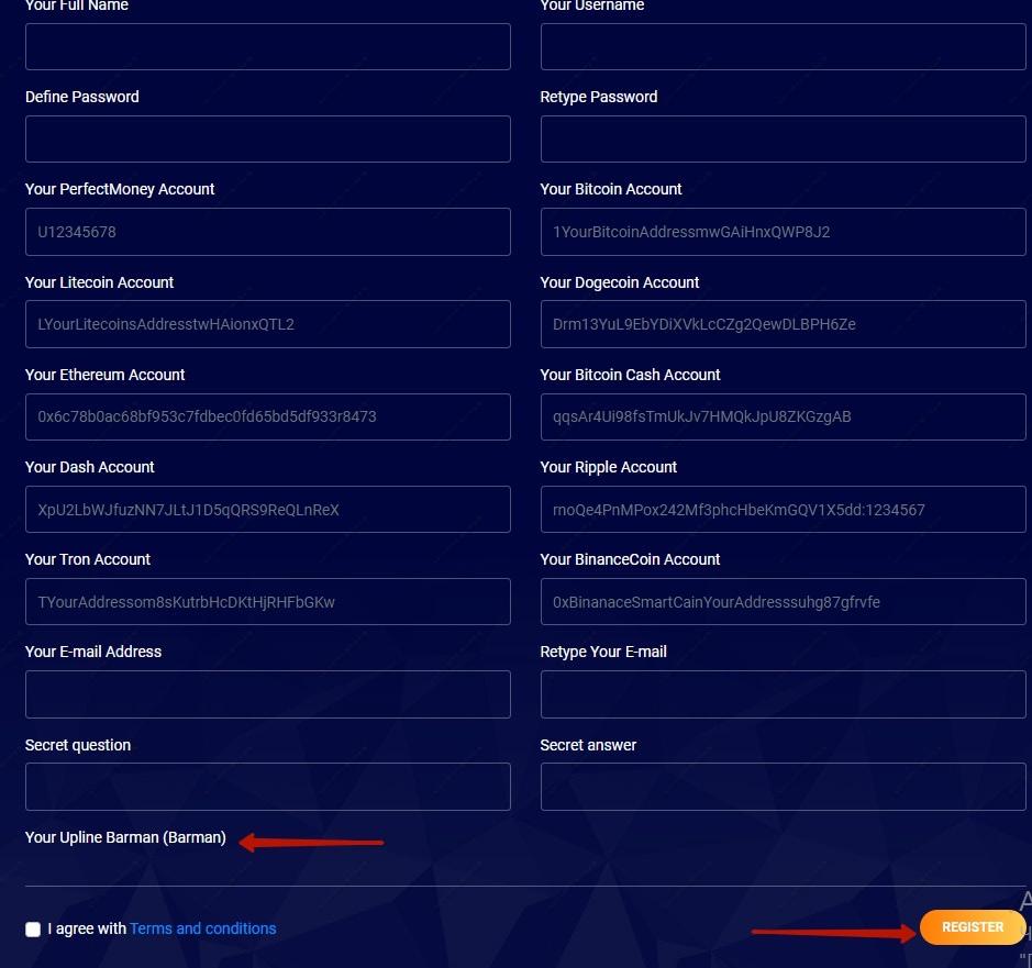 Bitboom.top Registration Form