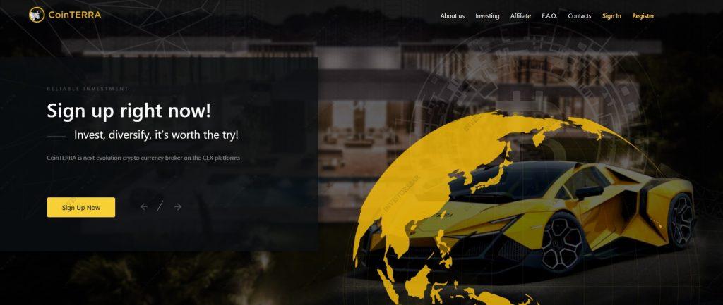 Cointerra.io Homepage