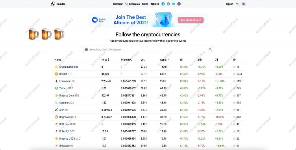 Crypto Trading & Coindar