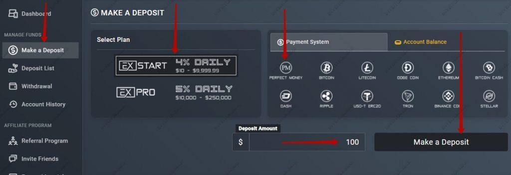 Ajouter de l'argent Exfunds.com